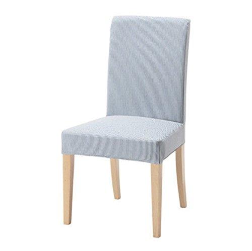 IKEA HENRIKSDAL Stuhl, Cover–remvallen blau weiß gestreift 303.347.85 (Ikea Esszimmer-möbel)