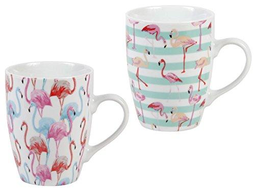 Flamingo Tasse Cup Kaffeetasse Flamingo-tasse Kaffeebecher Porzellan von Alsino, Variante...