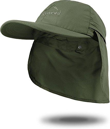 normani Sommer Cap 'Savannah' mit einrollbarem Nackenschutz Farbe Oliv Größe L - Savannah Cap