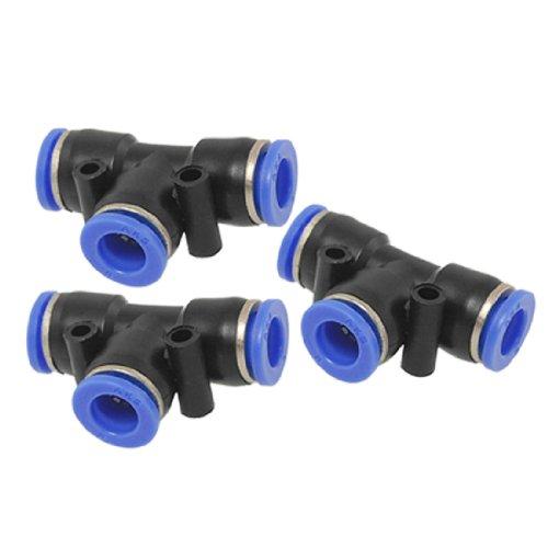 sourcingmap® 3 Stück 8mm Druckluft Push In Pneumatisch Schnellverbinder Steckverbinder