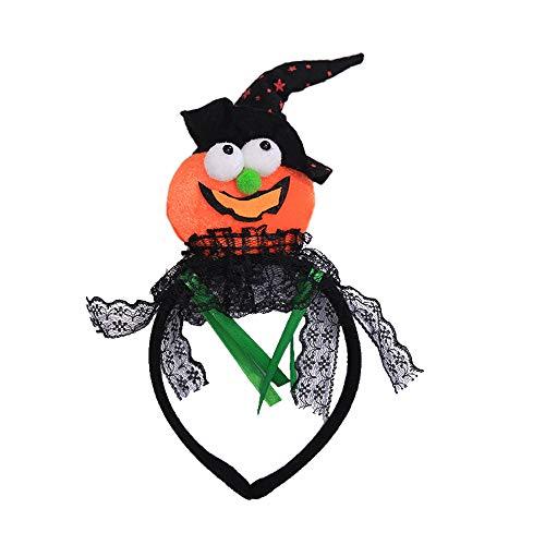 Quaan niedlich kreativ Halloween Stirnband Kürbis Kopfbedeckungen Stirnband Haar Zubehörteil zum Halloween Feier Party Süßigkeiten Kinder Dekor Geschenke Festival ()