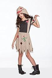 Halloween Wholesalers Girl's Voodoo Dolly-Small/Medium Black