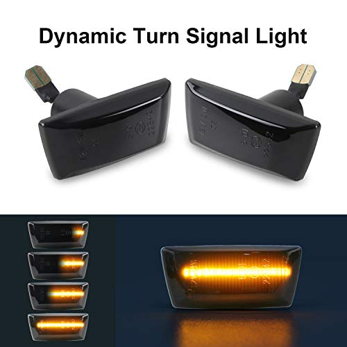 Dynamic Turn Signal Light Gempro Side Marker Flowing Side Indicators Smoke  For O-pel V-auxhall Adam Astra H Corsa D Corsa E Insignia A Meriua B Zafira
