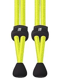 Paquetes de elástico cordones de bloqueo para correr y triatlón–vendedor de Reino Unido (1Set Lime)