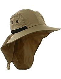 Antique Future T-Mall Herren breiter Rand Safari / Outback-Hut mit Nackenschutz