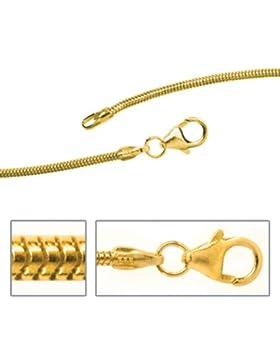 JOBO Schlangenkette 333 Gelbgold 1,4 mm 60 cm Gold-Halskette