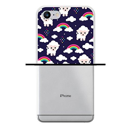 iPhone 7 Hülle, WoowCase Handyhülle Silikon für [ iPhone 7 ] Weisse Schokolade und Waffel Handytasche Handy Cover Case Schutzhülle Flexible TPU - Transparent Housse Gel iPhone 7 Transparent D0180