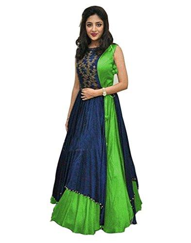 Seven Star Creation Women's Party Wear Lehenga Choli (Color: Green Free Size)...
