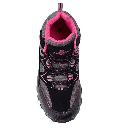 HSM, Stivali da escursionismo donna Grau/Pink