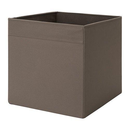 """IKEA Regalfach \""""DRÖNA\"""" Aufbewahrungsbox Regaleinsatz in 33x38x33 cm (BxTxH) - DUNKELBRAUN - passend für Expedit, Besta, etc."""