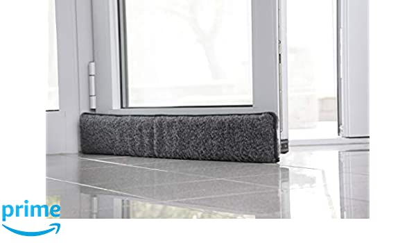 Luxury Faux Fur Draught Excluder Draft Insulator Door Window Removeable Cover