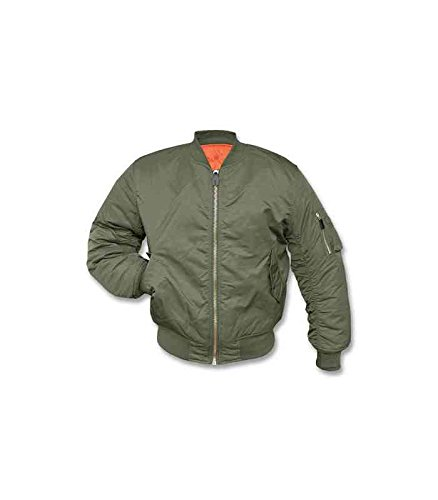 MIL-TEC Classic Retro Military Mens Jacket Vintage Look Style Olive, Size XL by Camo Outdoor