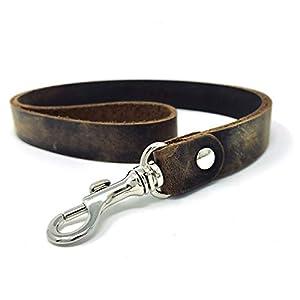 dunkelbraunes Schlüsselband mit Karabiner aus bestem Leder