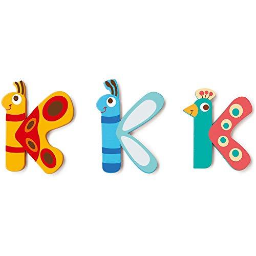 Scratch-Todos los demásMobiliario, decoración y Almacenamiento para niñosSCRATCHScratch Deco: Wooden Letter 'K', 3 asstd, Styles, 3 Glue Dots Included, on Card