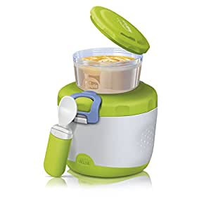 Chicco 00007659000000 Thermos PortaPappa System Easy Meal, 6m+, Verde