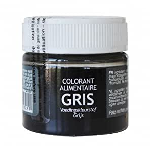 Colorant alimentaire en poudre gris 10g