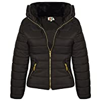 A2Z 4 Kids Girls Jacket Kids Stylish Padded Puffer Bubble Faux Fur Collar Quilted Warm Thick Coat Jackets New Age 3 4 5 6 7 8 9 10 11 12 13 Years