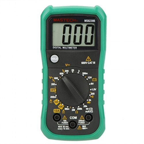 MASTECH MS8239B Ammeter Voltmeter Ohmmeter Digital Multimeter DMM Mini mit Batterietester