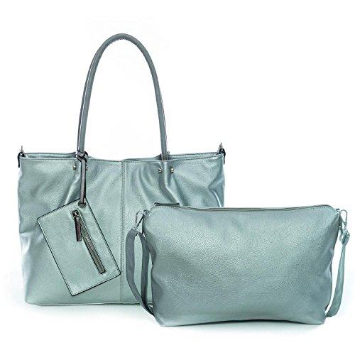 Maestro Surprise Cityshopper Handtasche Bag in Bag 45 cm rot schlamm