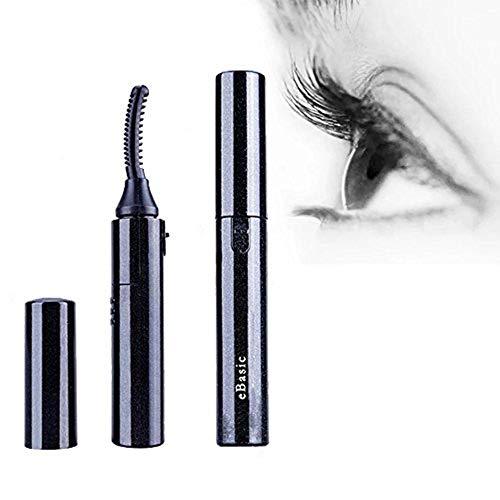 eBasic Electric Heated Eyelash rizador de pestañas rizador térmico de pestañas profesional, Styling Pen ojos maquillaje (negro)