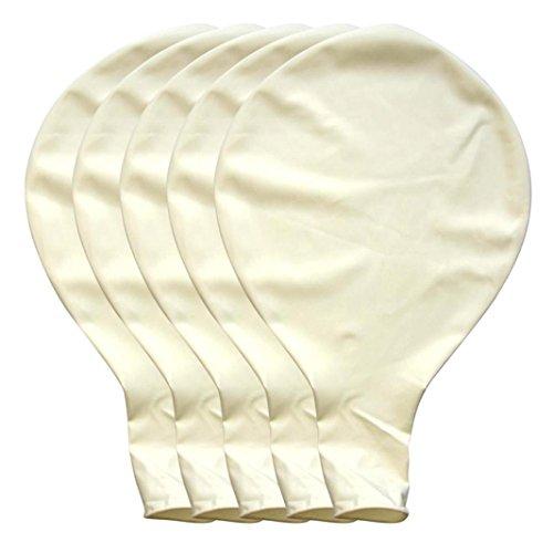 BZLine Großer riesiger Ovaler Großer Latex-Ballon, 5 Stück 36 Zoll 90cm Perle Latex Luftballons für Party Luftballons Spielzeug für Kinder Hochzeit Party Festival Dekoration (Weiß) (Perle Weiße Luftballons)