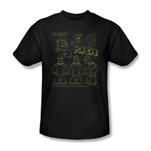 Popeye - We Can Rebuild Ihm Erwachsene T-Shirt in schwarz, XXX-Large, Black (Erwachsenen T-shirt Ihm)