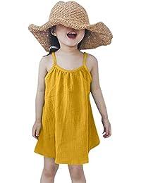 Luckycat Vestido Bebe Niña Verano, Ropa Bebe Niña Verano Vestido Niña Ceremonia Princesa Vestido Bebe