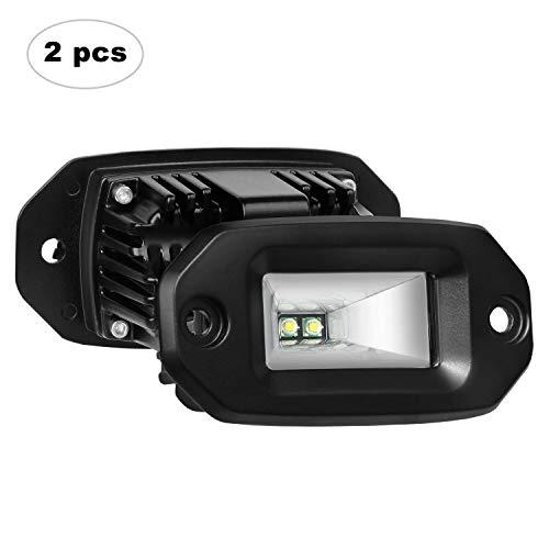 AAIWA Faro Luce LED,Flood Light 40W 2 PCS, Fari Luci CREE di Lavoro Impermeabili IP67 e Potenti,Faretti Barra LED Fuoristrada,Fendinebbia per Auto,Truck,4x4