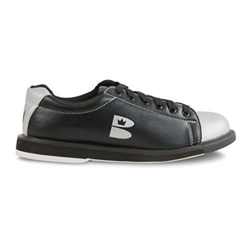 Brunswick Damen TZone Bowling Schuhe, Jungen, schwarz/silber (Elite-bowling-bowling-schuhe)