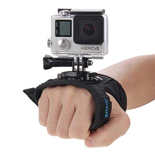 puluz 360Grad drehbar Handschuh Stil Handgelenk Strap Band Mount Hand Palm Gürtel Lanyard Halter mit Schraube für GoPro Hero5/4Session 5/4/3+/3/2/1, Xiaomi Yi Action Sport Outdoor Kamera