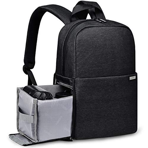 Kamerarucksack, CADeN wasserdichte Kameratasche Dual Use DSLR Bag Diebstahl Fotorucksack für Canon Nikon Sony(Schwarz)