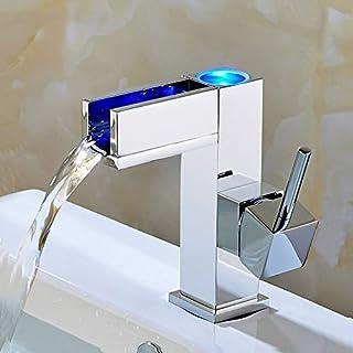 Gyy-tap LED Wasserhahn, Badarmaturen Waschtischarmatur Wasserhahn Wasserhahn Waschtisch Waschtischarmatur mit Armaturen Schläuche & Armaturen Temperaturregelung