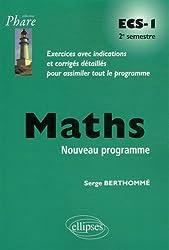 Maths ECS-1 Deuxième Semestre Nouveau Programme