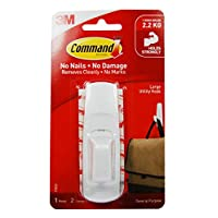 Command 17003 Large Hook Hanging Strips - White, Pack of 1