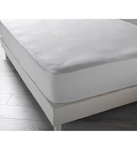 Home And Deco Protège Matelas Imperméable Molleton140x190cm Blanc 85% Coton, 15% Polyester Protection Literie Pas Ch