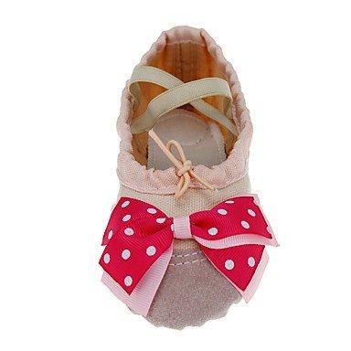Wuyulunbi@ Kids' Ballet tela di formazione piatta rivestimento Beige piana ,Beige,US8 / EU24 / UK7 Toddle Noi13.5 / EU31 / UK12.5 bambini piccoli