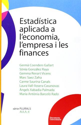 Estadística aplicada a l'economia, l'empresa i les finances (Plurals)