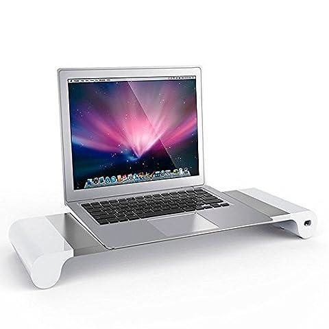 Monitor Ständer,Aomo Universal Aluminium Halter Halterung Stand mit 4 USB