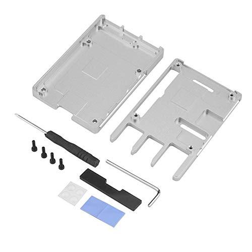 Preisvergleich Produktbild Ultradünne Aluminiumlegierung CNC-Gehäuse für Raspberry Pi 3 Mode B3 Tragbare Metallbox Neue Version für 3B - Silber
