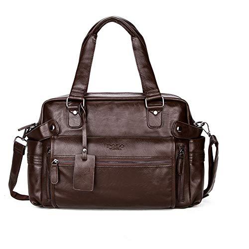 NOBIE, Casual Herrenhandtaschen, Gepäcktaschen, Umhängetaschen, Klassischer Stil, Mode, Anpassen An Eine Vielzahl Von Anlässen,Brown,40cm*13cm*22cm