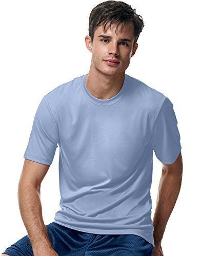 Hanes Herren Cool Dri UPF 50Feuchtigkeitstransport T-Shirt Pack3 - Blau - Groß (Hanes T-shirts Großen)