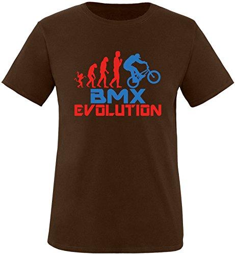 EZYshirt® BMX Evolution Herren Rundhals T-Shirt Braun/Rot/Blau