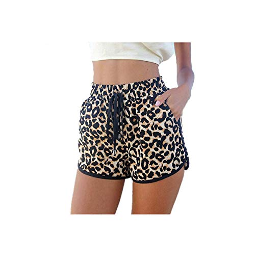 Sexy Leopard Shorts 2019 Summer Fashion New Sexy Ladies Women Printed Shorts Short Trousers Plus Size S M L D003 Leopard Rope M -