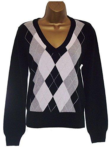 ladies-super-quality-classic-diamond-design-golf-jumper-sweater-3-colours-s-m-l-xl-xxl-100-cotton-bl