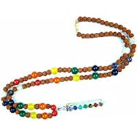 Boho Chic Yoga Jewelry Nine Planets Mala with Reiki Pendant, Wards Off Negative Energies