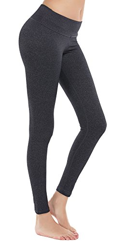 DeepTwist Damen Yoga Hosen Trainings Fitness Yogahose Sports Leggings, UK-DT4002-Dark Grey-4 (Petite Stretch-yoga-hosen)