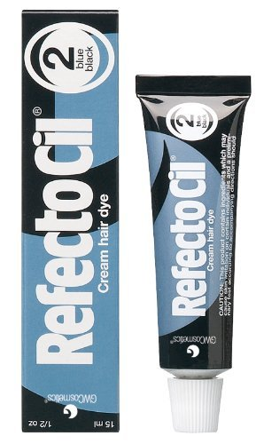 RefectoCil Cream Hair Dye (BLUE BLACK) .5oz by RefectoCil