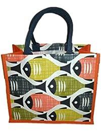 DSK Enterprise Jute Multi Color 13.5*16+8 Inch. Eco Friendly Jute Bag (DSKE-15)