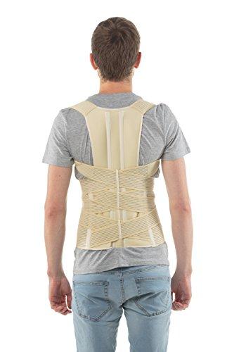®aHeal - (Größe 1) - Geradehalter zur Haltungskorrekturr - Für die untere, Brust- und Lendenwirbelsäule - für Damen und Herren - Europäische Qualität / 100 % Zufriedenheit garantiert