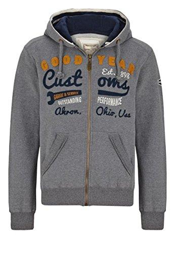 Goodyear felpa giacca con cappuccio knowville Men Zips-Marl Grey nuovo S-XXL multicolore M